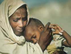 Darfur woman child